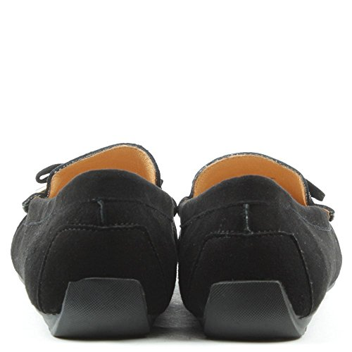 By Suede Daniel Df Flat Black Embellished Clarendon Loafers Iwdw5q