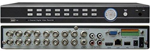 CIB Security 960H16N1000G HDMI High Resolution 16 Channel Network Security Surveillance DVR with 1000 GB HDD (Black)