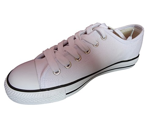 Top Trainers Up White Pumps Lace Gym Sneakers Canvas Plimsolls All Baseball Low xABdqanEwF