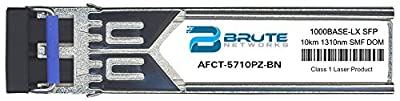 Brute Networks AFCT-5710PZ-BN - 1000BASE-LX 10km SMF 1310nm SFP Transceiver (Compatible with OEM PN# AFCT-5710PZ)