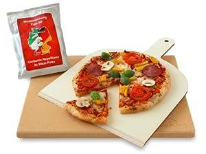 Vesuvo V38301 Pizzastein- / Brotbackbackstein Set für Backofen und Grill /...