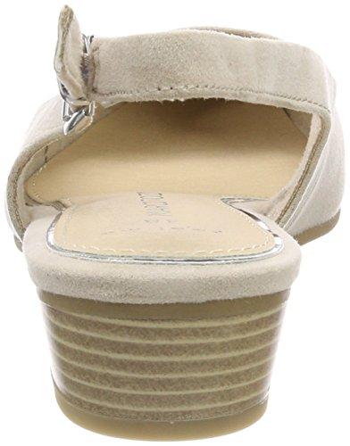 dune Beige Para Mujer Marco Abierto De Tozzi Talón Sandalias 29400 qgwPT8Zz