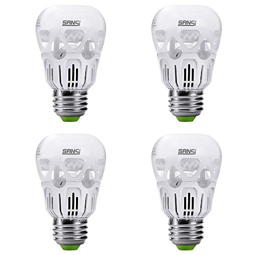 SANSI 40 watt Equivalent 5w LED Light Bulbs 3000k Soft Warm White E26 Medium Base A15 LED Bulb 450 Lumens Non-dimmable Energy Saving Bulbs for Ceiling Fans Lamps 5-Year Warranty (4-Pack)