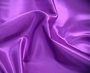 GORGEOUS SILKY SATIN FABRIC, DRESSMAKING, WEDDING, PROM - PURPLE - PER METRE by SUPGOD