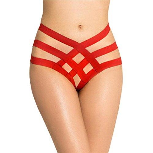 V-String Sexy Lingerie Bikini Panties Woman Female (Red) - 6