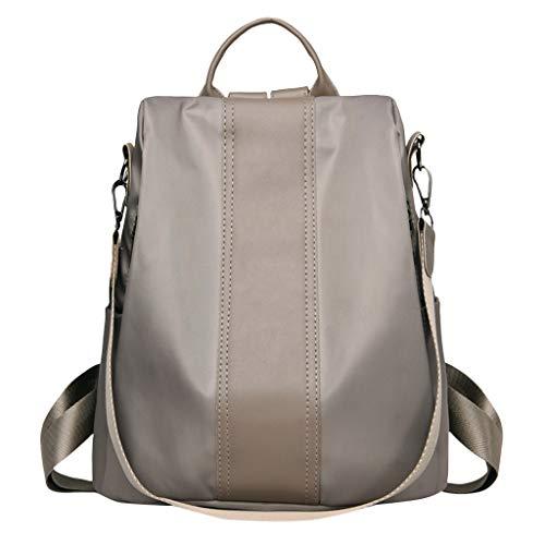 (Pengy Women's Backpack Purse Waterproof Nylon Anti-theft Rucksack Lightweight Shoulder Bag Anti-Theft Bag Wild Shoulder Bag)