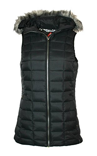 Columbia Women's Backcountry Blizzard Omni Heat Hooded Puffer Vest (Black, M)