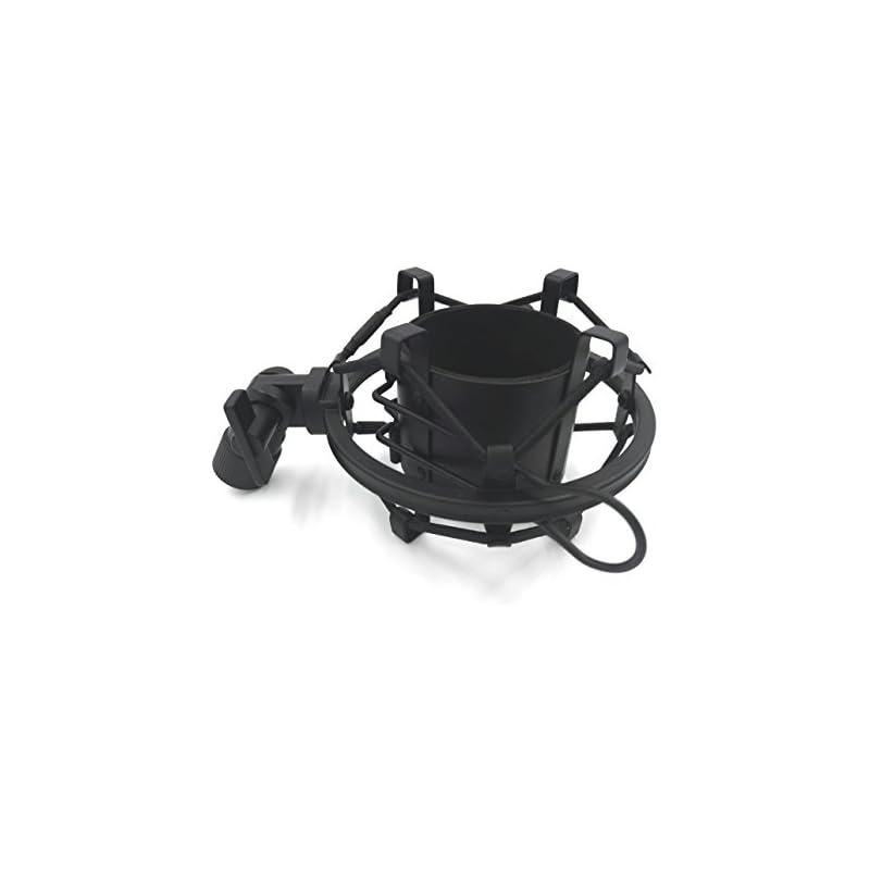 Anple Anti Vibration Suspension Metal Microphone Shock Mount Holder Clip(Black)