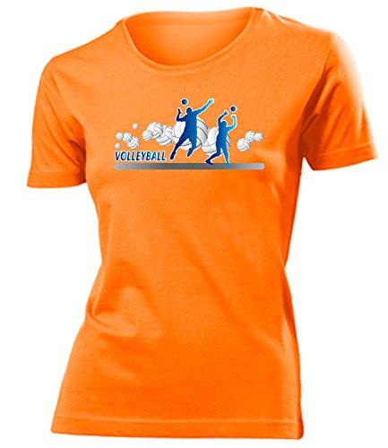 Sport - Volleyball Fan - Cooles Fun mujer camiseta Tamaño S to XXL varios colores Naranja