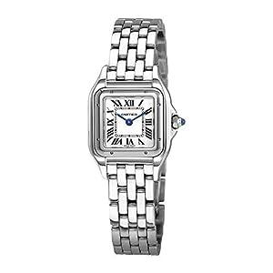 Cartier Pantherede de Cartier Reloj de acero inoxidable para mujer con esfera plateada WSPN0006 11