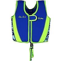 WYTbaby Kids Swim Vest Toddler Neoprene Float Swimming Jacket Boys Girls Buoyancy Swim Trainer Vest, 3-4 Years