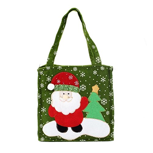 [Christmas Bags,Elevin(TM) New Santa Claus Gift Bags Merry Christmas Candy Bags Home Decoration (A)] (College Girl Halloween Costumes Creative)