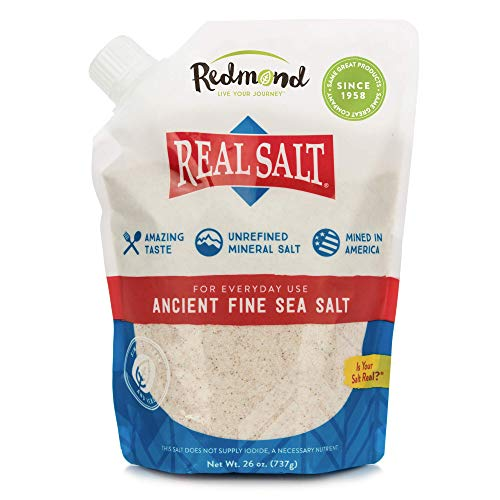 (REDMOND Real Sea Salt - Natural Unrefined Organic Gluten Free Fine, 26 ounce pouch (1 Pack) )