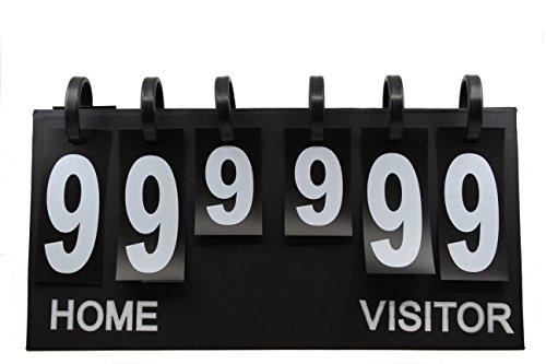 Upstreet Portable Scoreboard Flipper - Score Keeper Flips up to 99