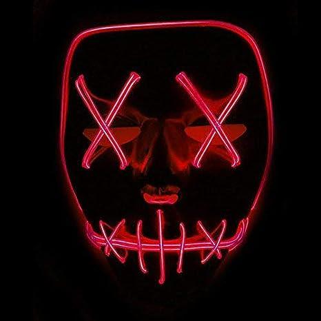 Xdffy Halloween Maschera LED Leggero Divertente Maschere Grande Festival  Cosplay Costume Supplies Festa Maschere Si illuminano