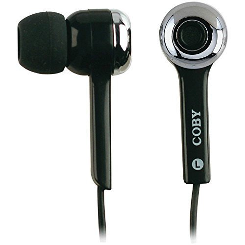Coby CV-E31BK MP3 Super Bass Digital Stereo Earphones CVE31 Black