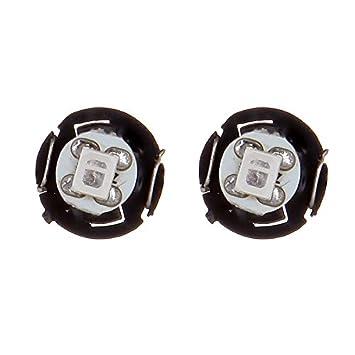 cciyu 6 Pack T4//T4.2 Neo Wedge LED Bulb A//C Climate Control Lights green