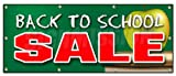 36''x96'' BACK TO SCHOOL SALE BANNER SIGN boys girls clothes sale discount
