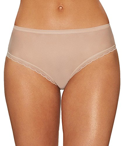 (OnGossamer Next to Nothing Modern Brief, XL, Champagne)