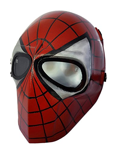 Airsoft Full Face Mask Army of two Cosplay Halloween mask Paintball YELLOW SMILEY Ghost Masks (Spider)