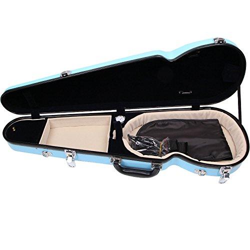 Fiberglass Violin Case Full Size (Sky Blue) by STRING HOUSE (Image #5)