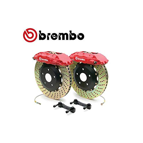 Brembo 2H1.9002A2 GT Brake Kit GMC 1500 Rear 07-13 Drilled Rotors Red Calipers