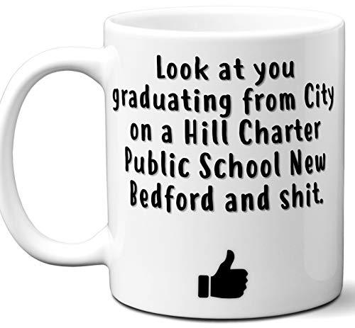 City on a Hill Charter Public School New Bedford Graduation Gift. Cocoa, Coffee Mug Cup. Student High School Grad Idea Teen Graduates Boys Girls Him Her Class. Funny Congratulations. 11 oz.