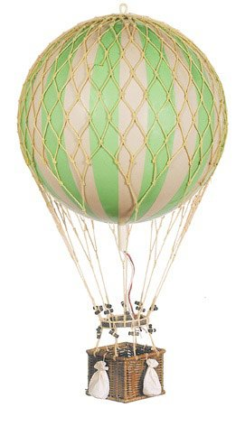 jules verne balloon hot air balloon color green