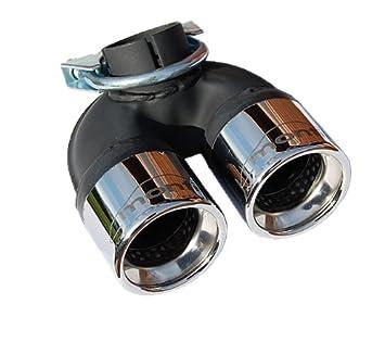 Doble End Tubo, apertura de escape, deportes con de escape absorber Smart 453 Diesel