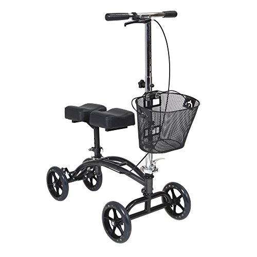 Drive Medical Dual Pad Steerable Knee Walker with Basket, Alternative to Crutches