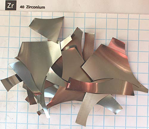 (10 Gram 99.9% Zirconium Metal Foil Pieces- Pure Element 40 Sample)