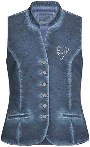 MarJo Trachten Damen Trachten-Mode Mieder Lotti in Blau traditionell