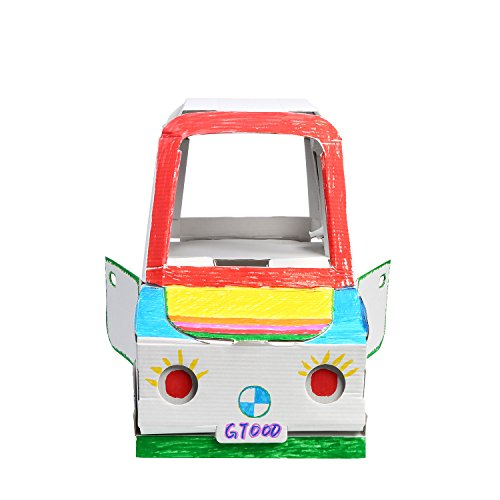 My Mini Car 12 Inch Tall Playcar, Corrugated Cardboard, Coloring Creative Crafts Project for Kids by baichang