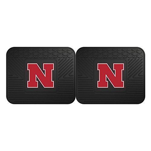 FANMATS NCAA University of Nebraska Cornhuskers Vinyl 2-Pack Utility Mats