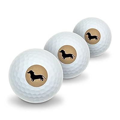 Dachshund Wiener Dog Novelty Golf Balls 3 Pack