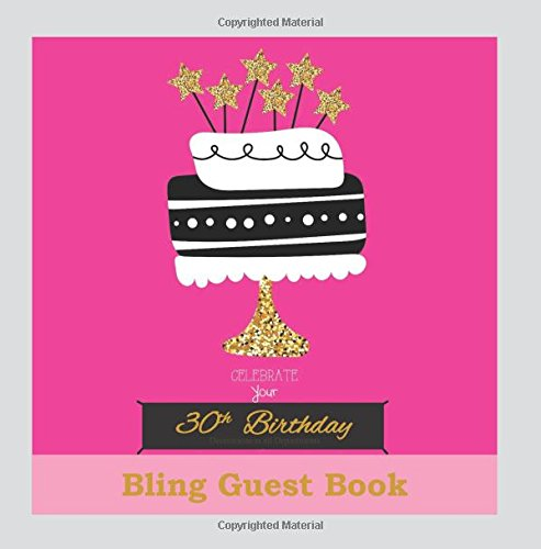 30th Birthday Decorations in All Departments: Bling GUEST BOOK Classy Silver Inside Foil Fleur de Lis End Pages 30th Birthday Decorations in Party ... (30th Birthday Guest Book) (Volume 1)
