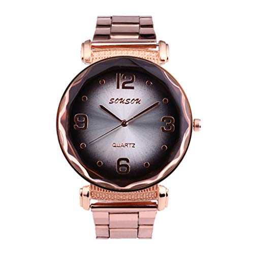 Chirpa Europe and The United States End Fashion Ladies Watch Steel Strap Watch Gifts for Mothers and Girlfriends ()