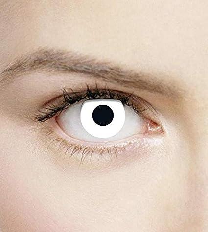 Phantasy Eyes ®Lentilles de Contact de couleur - Halloween Crazy Lens  (WHITE OUT) 6ddad5899084
