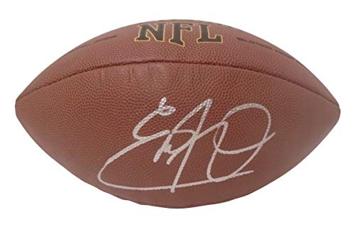 Tennessee Titans Eddie George Autographed Hand Signed NFL Wilson Football with Proof Photo of Signing, Houston Oilers, Dallas Cowboys, Ohio State Buckeyes, COA