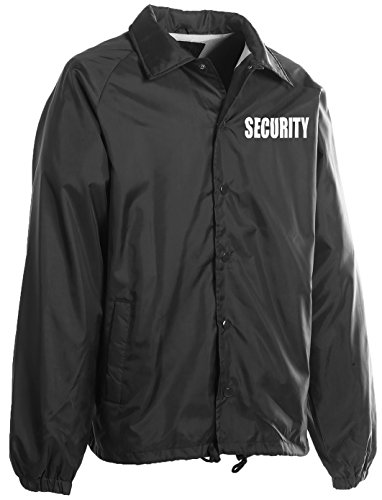 First Class 100% Nylon Windbreaker with Securtiy I.D. (Mens Outerwear Nylon Jacket)