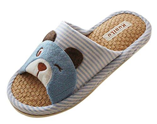 Cattior Dames Leuke Hond Pantoffels Dames Pantoffels Blauw