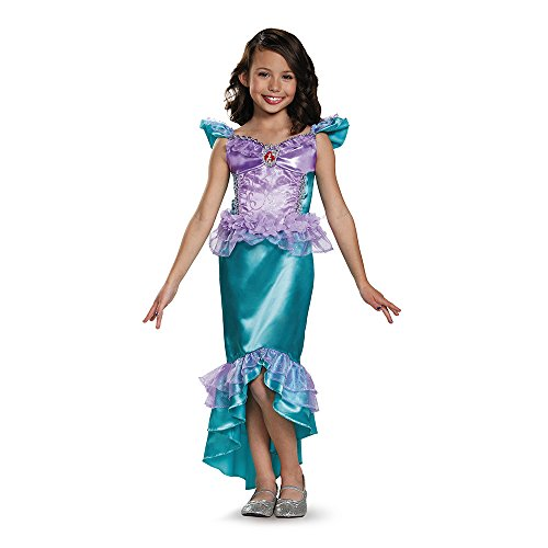 Disguise Ariel Classic Disney Princess The Little Mermaid Costume, SMALL/4-6X (Girl Ariel Costume)
