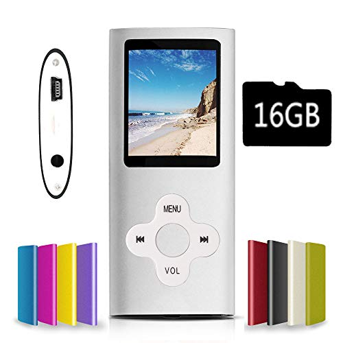 G.G.Martinsen Silver Versatile MP3/MP4 Player with a Micro SD Card, Support Photo Viewer, Mini USB Port 1.8 LCD, Digital MP3 Player, MP4 Player, Video/Media/Music Player