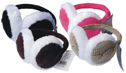 Bulk Buys Knitted Ear Muffs - Case of 72 by Bulk Buys