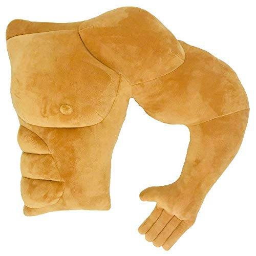 Vachchi muscle man pillow arm pillow body pillow novelty and prank product (left side)