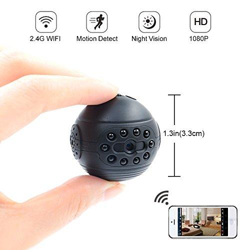 Cámara Espía, Cámara Oculta LXMIMI 1080P HD Mini Cámara Espía WiFi Vista Remota con Visión Nocturna y Detección de Movimiento para la Vigilancia en el ...