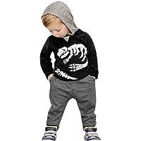 Orangeskycn Long Sleeve Hoodie, Toddler Kids Baby Girls Boys Dinosaur Bones Clothes Set Hooded Tops+Pants Outfit