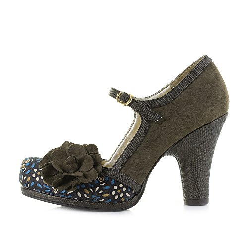 Ruby Khaki Heels Olive Shoes Shoo Womens Hi Hannah rvrfxO