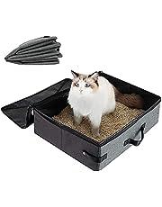 Waterdichte kattenbakbak, draagbaar kattentoilet, draagbare opvouwbare kattenbakbak, opvouwbare kattenbakbak, waterdichte Oxford doek kattenbakbak, voor reizen, buiten, park, huis (grijs)