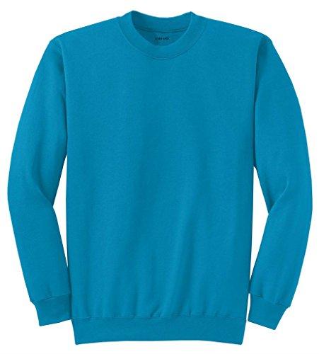 Joe's USA Adult Classic Crewneck Sweatshirt, XL -Neon Blue